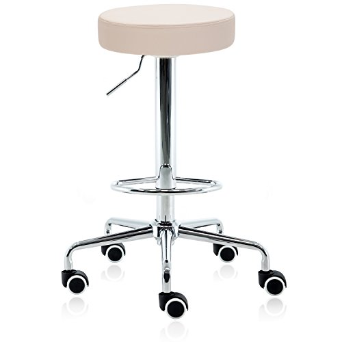 Dr.lomilomi Hydraulic Rolling Medical Massage Salon Spa Bar Stool Chair 507 (Vanilla)
