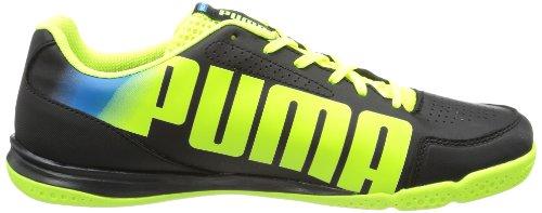 Puma evoSPEED 3.2 Sala 102894 Unisex-Erwachsene Fußballschuhe Schwarz (black-fluo yellow-brilliant blue 01)