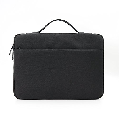 BORUI 14 Inch Laptop Sleeve Protective Computer Case Carrying Bag Cover Spill-Resistant Handbag for 14 Dell Asus HP Acer Toshiba ThinkPad Lenovo Samsung,Notebook Ultralbook Chromebook(Black)