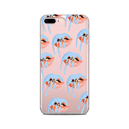 Iphone 7  4 7  Screen   Kylie K Jenner Cosmetics Sexy Lip Kit Candy Koko Kardashians Yeezy Sexy Transparent Clear Case Cover Funny Sexy Soft Tpu Case For Iphone 7 4 7 Inch Mus Co   Blue Frost Lips