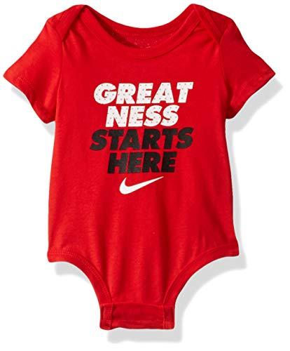 NIKE Children's Apparel Baby Graphic Bodysuit, University Red, 3M