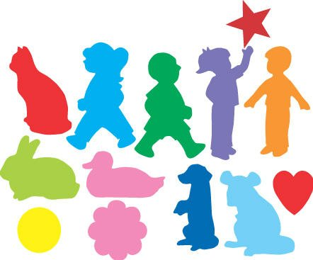 Sticky Shapes - People, Shapes and Animals - Package of 225