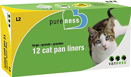 Van Ness Plastic Molding Cat Pan Liners 12 Pack Large - -