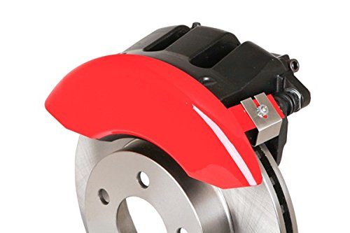 Set of 4 MGP Caliper Covers 12199SDRTRD Caliper Cover with Red Powder Coat Finish,