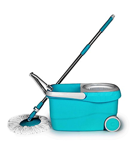Wonder Spin Easy Floor Cleaning Bucket Mop Set in Blue Color with Wheels and Handle