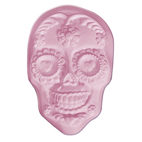 (Milky Way Sugar Skull Soap Mold Tray - Melt and Pour - Cold Process - Clear PVC - Not Silicone - MW 466 )