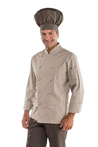 Bottoni Gr 100 Antipanico m² Cuoco Giacca Manica Cotone 3xl Tessuto Tortora Isacco 27142 210 Bianco Mezza Classica xFAXnzq