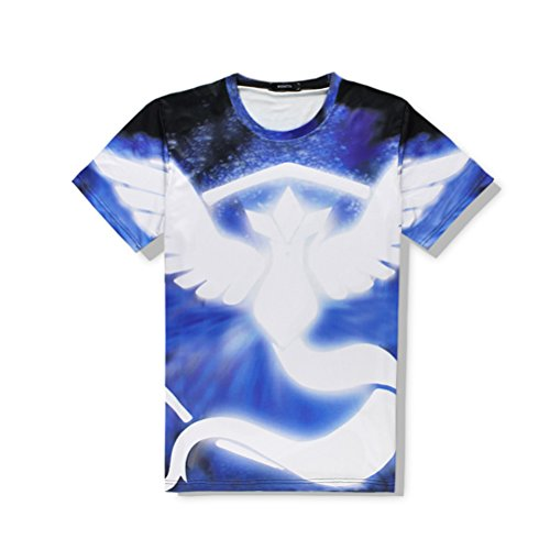 Driver Short Sleeve Pique Shirt (Mens and Womens 3d Printed Pattern Short Sleeve Shirt Cool Graphics Tees blue-L)