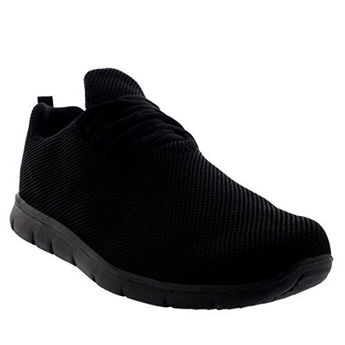 Hombre Corriendo Mesh Zapatillas Deportes Caminar Top Get Fitness para Bajo Fit Negro Negro tqwCrw