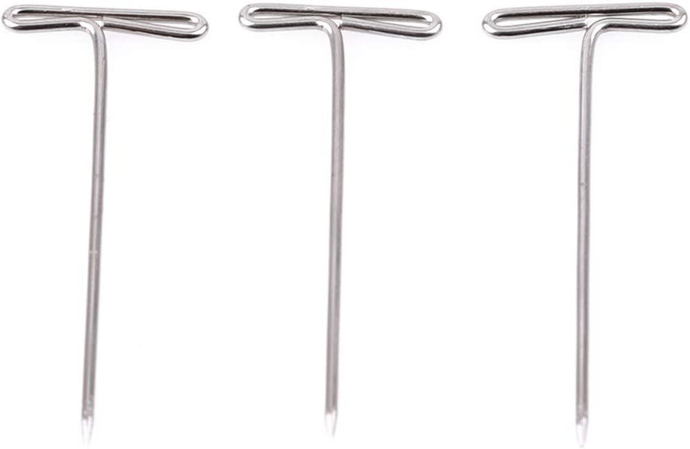 Sperrins 100 Pcs//Set T Pins for Blocking Knitting Modelling and Crafts Holding Wigs Hair Extensions