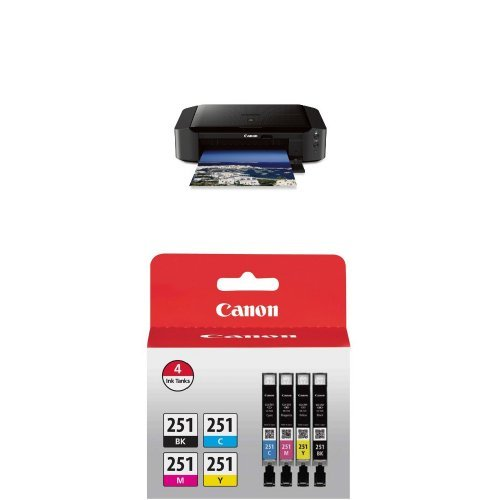 Canon Office Products IP8720 Wireless Inkjet Photo Printer with Genuine Canon Ink Value Pack by Canon