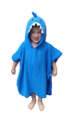 Hooded Beach Towel - Softest Quick Dry Hooded Kids Shark Towel for Toddler - 5T - 100% Cotton Gently Snuggles Kids Dry. Get the Baby Shower Gift Moms Love by Hudz Kidz