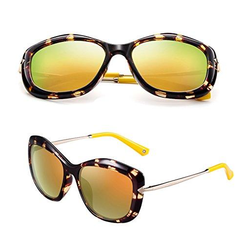 soleil grand cadre Mesdames lunettes conduite de Jaune de Le waqtfC7