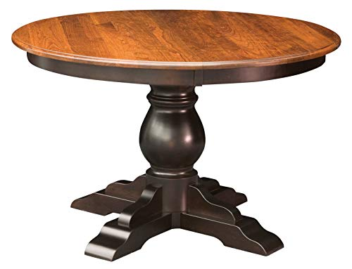 New Hickory Wholesale Amish Traditional Round Pedestal Dining Table Solid Wood (60
