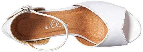 Ellie Shoes Women's 609-Billie Heeled Sandal White KlTJD2u