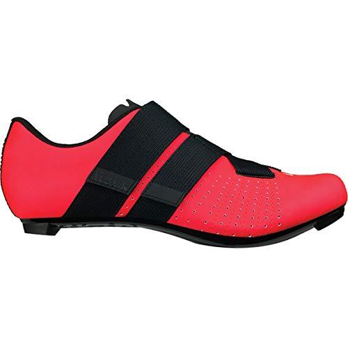 Fizik Tempo R5 Powerstrap Cycling Shoe, Coral/Black - 40.5, Coral/Black