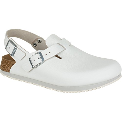 Birkenstock Professional Tokyo Super Grip Leather, White 39 N EU/ 8-8.5 N US Women