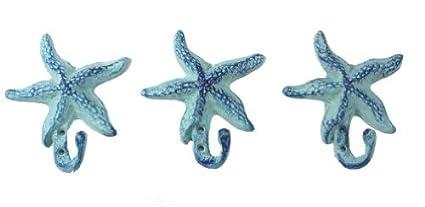 MD Starfish - Perchas de Pared para Abrigos, Delantales, Sombreros, Toallas, Soportes