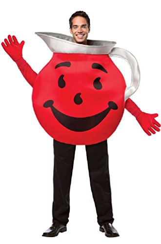[8eighteen Funny Drink Kool-Aid Man Guy Adult Costume] (Pharaoh Adult Mens Plus Size Costumes)