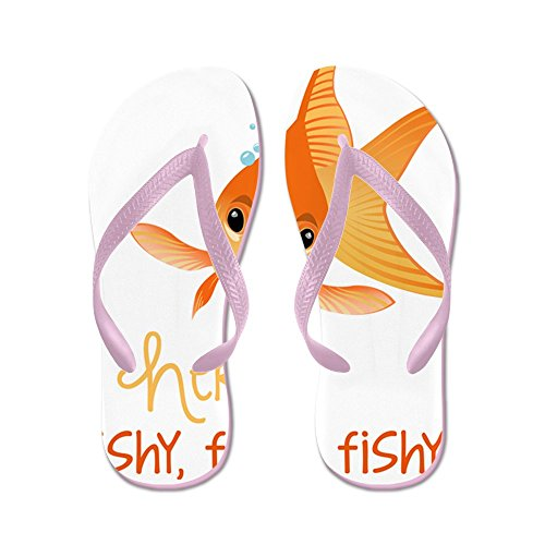 CafePress Here Fishy - Flip Flops, Funny Thong Sandals, Beach Sandals Pink