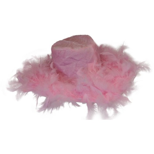 [Pink Fluffy Feather Hat] (Pimp Costume For Kids)