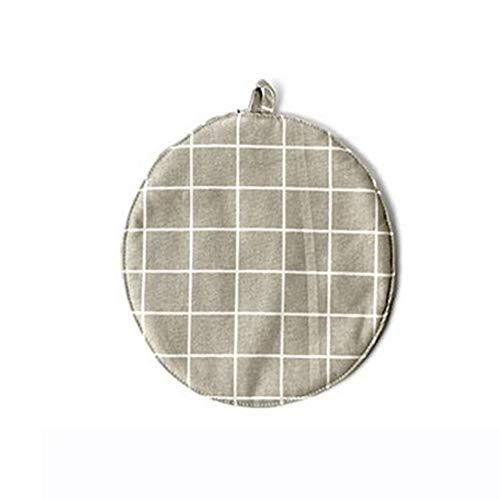 Connoworld - Mantel individual redondo de lino y algodón para mesa de comedor o terraza con aislamiento térmico, 6#, 1