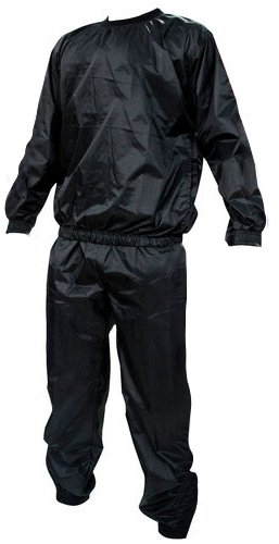 Kabalo Black Heavy Duty One-Size-Fits-All Sweat Suit Sauna ...