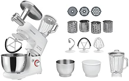 Concept Electrodomésticos RM5000 Robot de cocina de movimiento planetario con 2 boles, 650 W, 4 litros, Acero Inoxidable, 6 Velocidades, Blanco: Amazon.es: Hogar