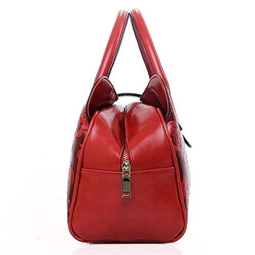 Main Carré 22 gaufrage à Gros 33 Red Seul span Sac Sac Femme Defect 16 cm Oblique pour qXTE6nw0