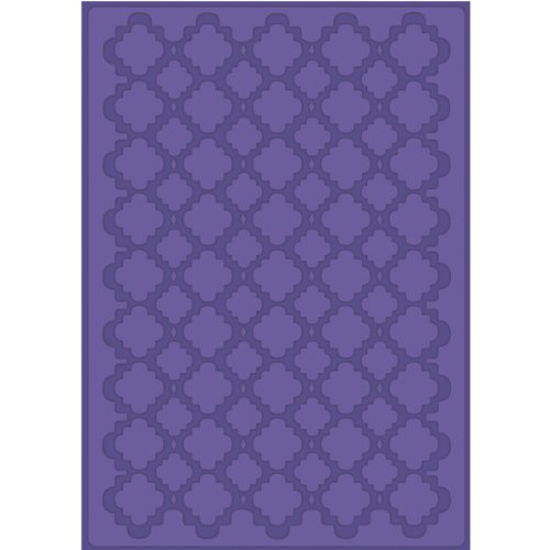 Craftwell Quatrafoil Embossing Folder for Scrapbooking, Letter Size by Craftwell