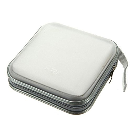 Price comparison product image Coohole 2017 New 40 CD DVD Disc Organizer Storage Cover Case Holder Box (white)