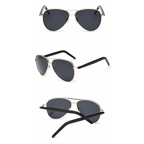 5e21a5ef97 Gafas de Sol Moda Masculino Y Femenino Gafas de Sol Pareja Lente Gris de  Marco de