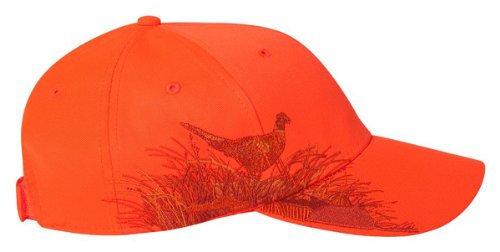DRI DUCK Wildlife Series Caps, Blaze Orange - Pheasant (3261), ADJ