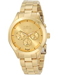 Invicta Womens 12466 Angel Gold-Tone Stainless Steel Watch