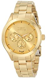 Invicta Women's 12466 Angel Gold-Tone Stainless Steel Watch