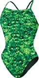Speedo Women's Nano Fracture Flyback - PowerPLUS Green 30