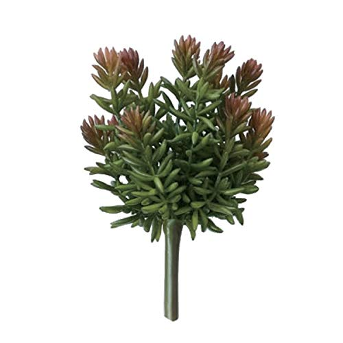 人工観葉植物 セダムピックレッド(12個セット) ba281 多肉植物 (代引き不可) インテリアグリーン 造花 SUCCULENT PICK B07T12N6DT