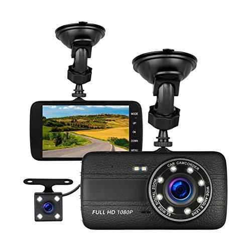 EEEkit Dual Lens Car Camera DVR Video Dash Cam Audio Recorder 1080P Parking Monitor with G-Sensor, Loop Recording, WDR, Parking Guard