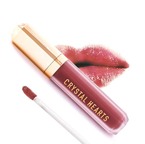 CrystalHearts Matte Liquid Lipstick - Long-Lasting and Non Transfer Kiss Proof Makeup Lip Gloss- Cruelty & Paraben Free Hydrating Lip - Made in USA (Olivia)