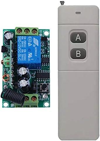 INTERRUTTORE TELECOMANDATO CON TELECOMANDO WIRELESS 12V DC 1 canale