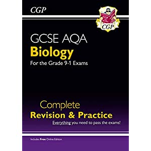 Grade 9-1 GCSE Biology AQA Complete Revision & Practice with Online Edition (CGP GCSE Biology 9-1 Revision)Paperback – 7 July 2016