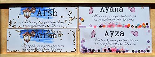 Islamic bookmarks, Custom names shaker bookmarks, Islamic gifts, Ramadan decoration, Haj gift, Muslims greeting, Islamic card, completing the Quran - Arabic Bookmark