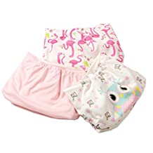 October Elf Unisex Baby 3-Pack Printing Adjustable One Size Cloth Diaper Cover Snap