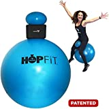 Empower HOPFiT Exercise Ball, Fun Low-Impact Total-Body Workout, Includes Pair of Weighted Gloves (1-Pound Each), 9-Piece Set