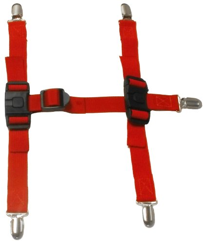 Canine Footwear Suspenders Snuggy Boots for Dog, Small, Red - Nylon Dog Booties