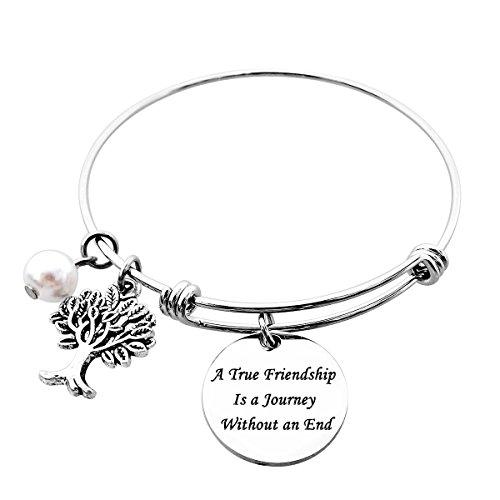 ALoveSoul A True Friendship is a Journey Without an End Friendship Bracelets Long Distance Friendship Gifts