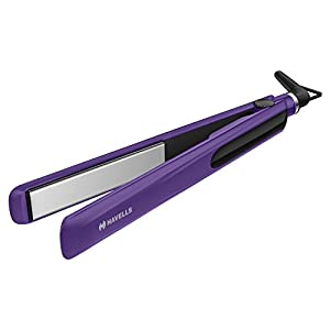 Havells HS4101 Ceramic Plates Fast Heat up Hair Straightener, Straightens & Curls, Suitable for all Hair Types (Purple)