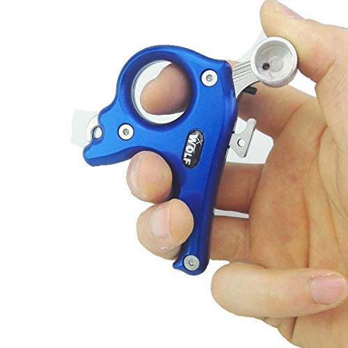 NMCPY Archery Release Aids 3 Fingers Compound Bow Release Aids Gear Compound Bow Accessory (Blue) by NMCPY