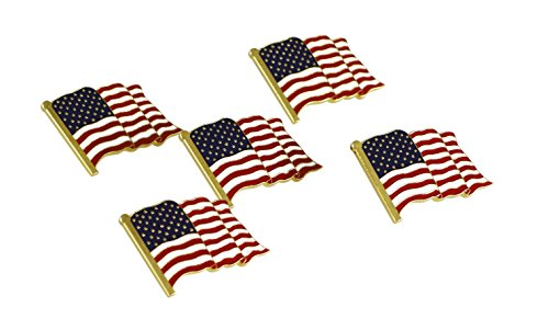 American Flag Lapel Pin Proudly Made in USA (25 Pack)