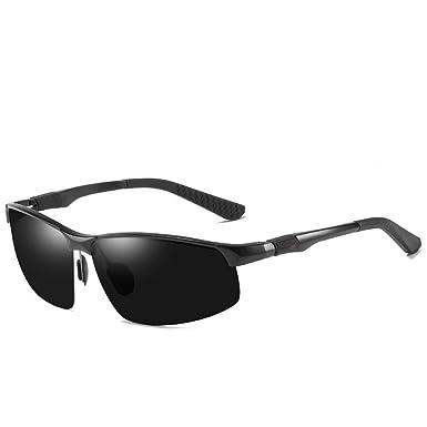 RZXTD Gafas De Sol Gafas De Sol Negras De Aluminio Y ...